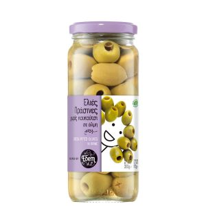 Green pitted olives in brine 330gr