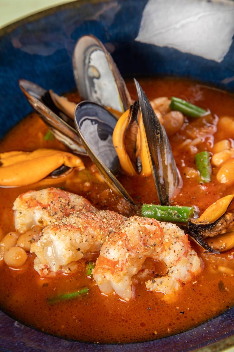 Σούπα μινεστρόνε με θαλασσινά 2